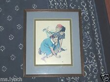 Norman Rockwell Knuckles Down Print--Matted