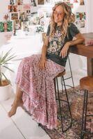 BNWT Spell Designs Jasmine Maxi Skirt Lilac - Size XS