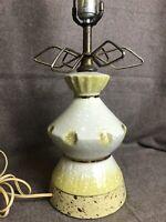 Vintage Mid Century Modern Atomic Table Lamp 1950s