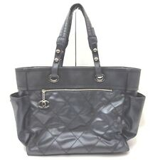 Chanel Tote Bag  Black Leather 1408652
