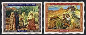Algérie 428-429, Mnh.paintings Par Etienne Dinet : Algérien Femme, The Watchmen,