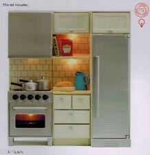 Lundby 60.2095 Smaland Küchenmöbel Herd Kühlschrank Schrank  1:18