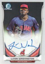 2014 Bowman Chrome Prospect Baseball #BCAP-LW LeVon Washington AUTO