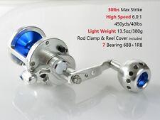 Jigging Reel Conventional Fishing Saltwater Inshore 30lbs Super Light Gomexus