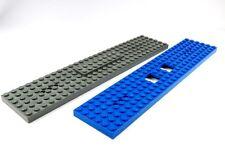 LEGO 2x Tren Placa 6 x 28 Vagón Azul Gris Repuesto LOCOMOTORA TREN