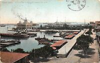 B95129 port  said office of the suez canal ship bateaux   egypt africa