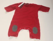 ALBUM DI FAMIGLIA Baby One Piece Suit Solid Red made in Italy 12-18m NEW w/Tags