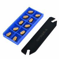 10pcs GTN-3 SP300 Indexable Inserts+SPB26-3 Parting Grooving Cut-Off Tool Holder