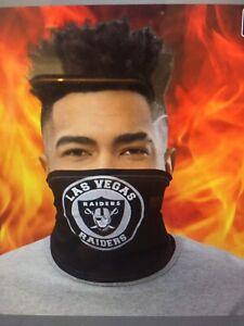 Black las vegas raiders face mask, Raiders neck Gaiters