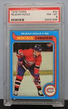 1979 TOPPS # 34 Rejean Houle PSA 8 NM-MT - PSA # 22091896  MONTREAL CANADIENS !!