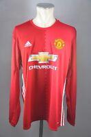 Manchester United Trikot Gr. XL Adidas 2016 Jersey LS Jersey rot Shirt ManU