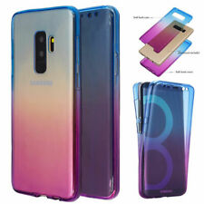 Shockproof 360° Silicone Clear Case Cover For Samsung Galaxy S7 S8 S9 Plus Note