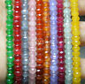 """Lots 4x6mm Faceted Multi-Color Gemstone Abacus Rondelle Loose Beads 15"""" Strands"""