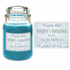 Personalised Christmas Nanny Candle Label Gift