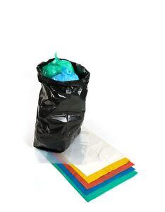 Refuse Sacks Black & Coloured. Strong Rubbish Bin Bags Heavy Duty 18 x 29 x 39