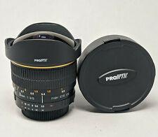 New listing Rokinon (ProOptic) 8mm f/3.5 Manual Focus Aspherical Lens For Nikon Dx cameras
