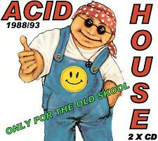 RAVE ACID HOUSE  2 DISC CD SET  OLD SKOOL CLASSIC TRAX
