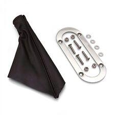 Emergency Brake Black Boot w Stainless Trim Ring for Lokar Universal eBrake Kits