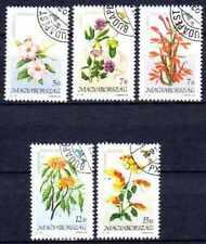 Flore - Fleurs Hongrie (48) série complète de 5 timbres oblitérés