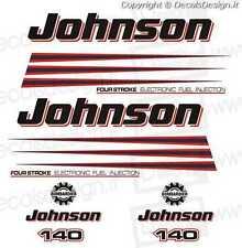 Adesivi motore marino fuoribordo Johnson 140 cv bombardier  gommone barca