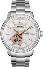 Bulova 96A143 Mens Silver Mechanical Automatic Watch
