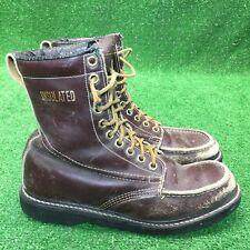 Vintage Texas Steer Insulated Work Boots Sz 9.5 Grunge Hipster Rockabilly