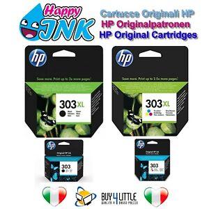 Cartucce Originali HP 303 303XL Nero Colore ENVY 6220 6230 6232 7130 7134 7830
