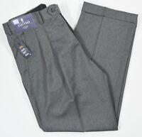 Stafford #5602 NEW Men's Classic Fit Travel Trouser Pleated Cuffed Dress Pants
