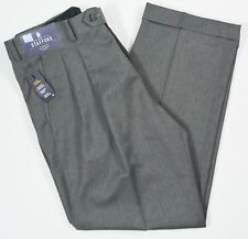 Stafford #5602 NEW Men's Classic Fit Travel Trouser Pleated Cuffed Dress Pants