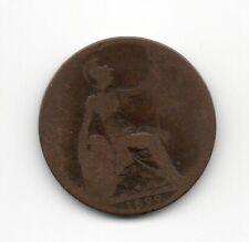 1899 GREAT BRITAIN QUEEN VICTORIA  HALF PENNY