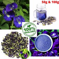 100% pure Premium Blue Flowers Ternatea|Butterfly Pea Tea Clitoria Immunity Boos