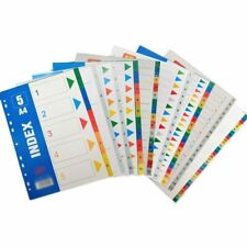 A4 51012152031pages Pp Binder Numbers And Alphabet Index Divider Files Set