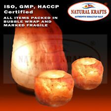Ionizing Salt Lamp Himalayan 5-7 KG and 2 Free Tealights Holders