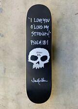 Zero Single Skull 'Psalm 18:1' Deck Signed & Personalized by Jamie Thomas