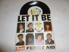 "FERRY AID & PAUL McCARTNEY - Let It Be - 7"" 1987 2-track Vinyl Single"