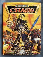 WARHAMMER 40K CHAOS SPACE MARINES CODEX 2ND ED ARMY RULE BOOK GAMES WORKSHOP OOP