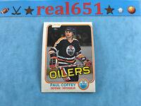 1981 O-Pee-Chee #111 PAUL COFFEY Rookie   Oilers OPC RC   HOF   NM/NM-MT (OC)