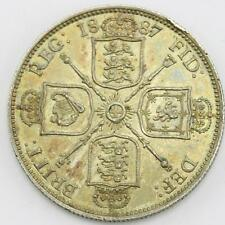 1887 Extremely Fine .925 Silver Queen Victoria Jubilee Head 1 Florin Coin Lot A