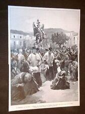 Terremoto in Calabria nel 1905 Tropea Processione di San Michele Arcangelo