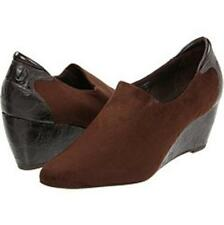 DONALD J PLINER Expresso Brown Suede Leather Ferny Wedge Bootie 9.5M NIB $185