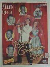 """THE BENNY GOODMAN STORY"" Affichette belge entoilée (Steve ALLEN, DONNA REED)"