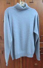 JOSEPH & LYMAN 100% CASHMERE Sweater Turtleneck Mens M Exceptionally soft! EUC
