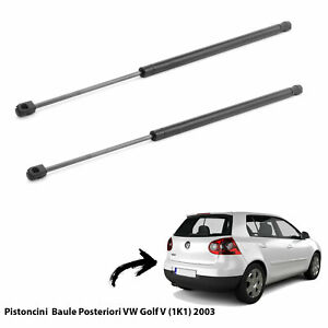 2  MOLLE A GAS PISTONI PISTONCINI PORTELONE BAGAGLI VW GOLF V (1K1) 2003