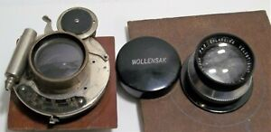 Vintage WOLLENSAK And Bausch & Lomb Optics Camera Lens Antique