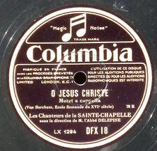 Chanteurs de la Sainte-Chapelle Vittoria Van Berchem 10 '' 78 trs / 78 RPM NM -