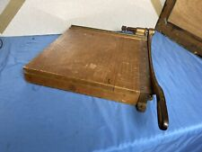 New ListingVtg Ingento No.5 Paper Cutter 15� Cast Blade school antique office wooden