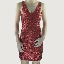 Sexy Lady Sequins Dress Glitter V Neck Dance Rumba Costume Vest Mini Sleeveless