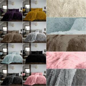 Luxury TEDDY HUG SNUG CUDDLY FUR Duvet Quilt Cover Soft Warm Polyester All Sizes