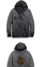 New Harley-Davidson Authentic Men's Oak Leaf Hoodie Size XL Black Grey $85