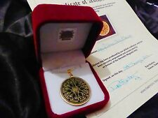 AUTHENTIC STUDY AID TALISMAN SOLID BRASS Occult Magic Amulet Magick Witchcraft